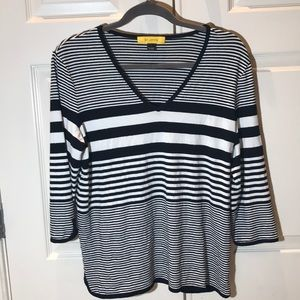 St. John striped shirt size L